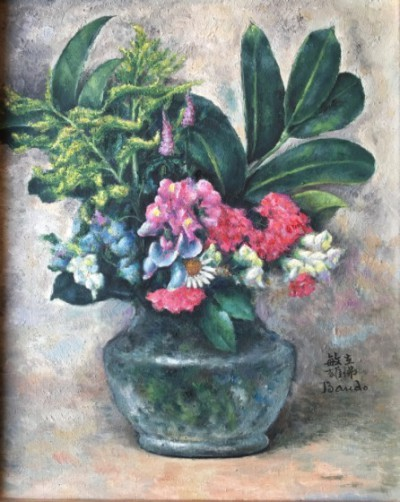fleurs dans un vase - toshio bando