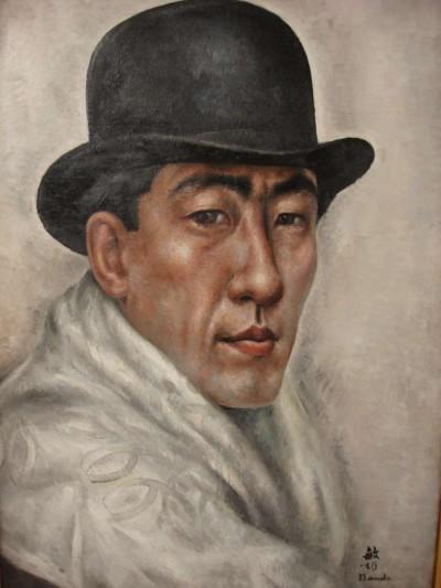 Autoportrait au chapeau melon - Toshio Bando