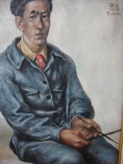 Autoportrait aux deux pinceaux - Toshio Bando