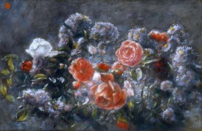 Roses et fleurs des champs de Toshio Bando