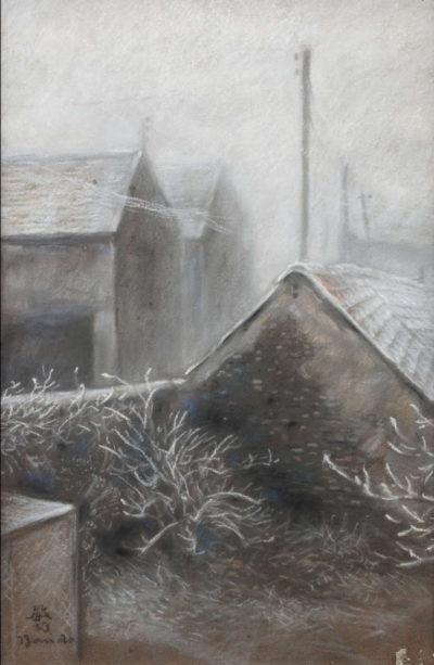 paysage de neige - toshio bando