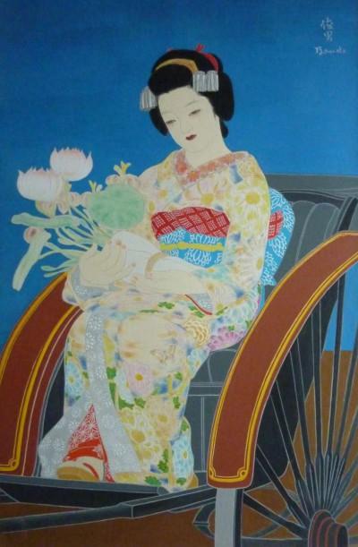 Japonaise caleche et bouquet - Toshio Bando