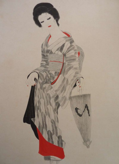 Japonaise a l'ombrelle - Toshio Bando