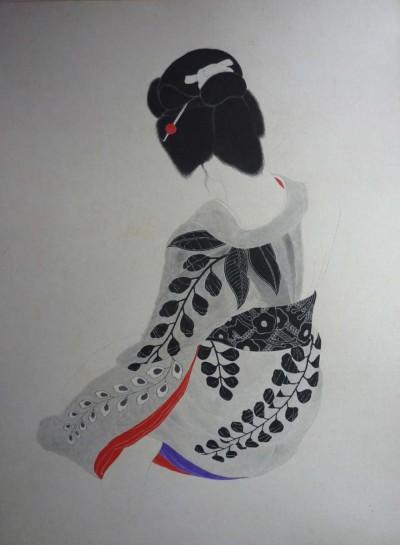 Japonaise de dos - Toshio Bando