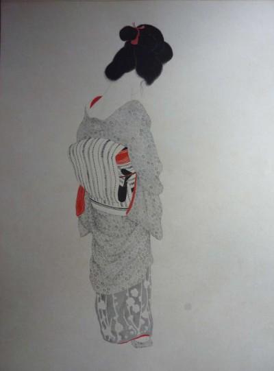 Japonaise au noeud rouge - Toshio Bando