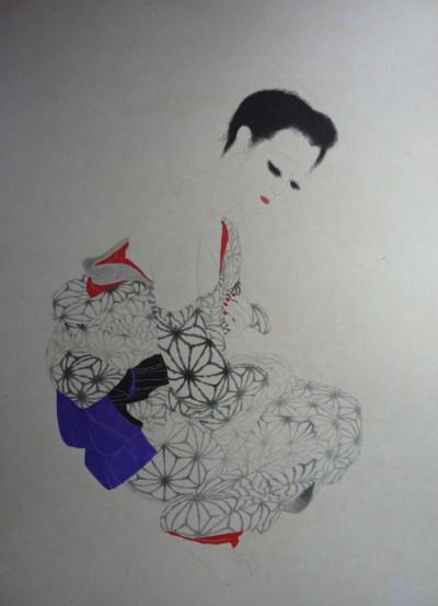 Japonaise a la ceinture bleue - Toshio Bando