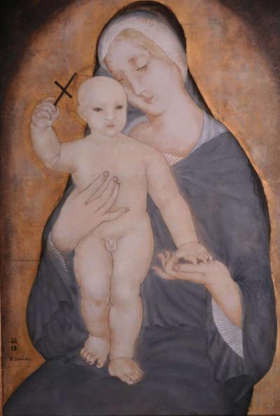 Vierge à l'enfant - Toshio Bando