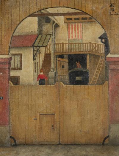l'attelage dans la cour, Pierrefite -Toshio Bando