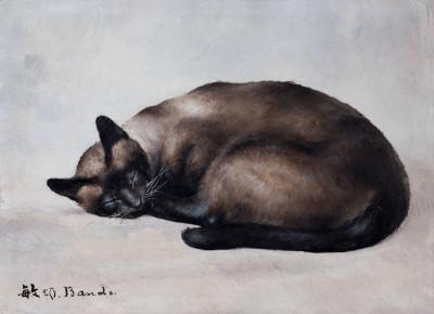 Chat siamois dormant de Toshio Bando