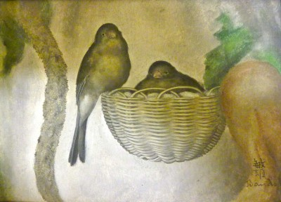 Deux perruches - Toshio Bando