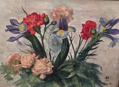 nature morte aux fleurs ;huile;toile