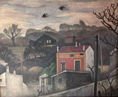paysage a la maison rouge -Toshio Bando