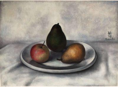 nature morte aux fruits-Toshio Bando