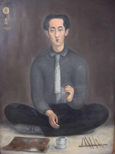 Autoportrait à la palette - Toshio Bando
