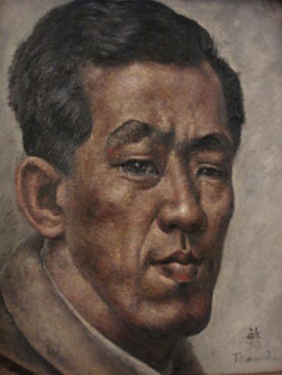 Autoportrait au col rond - Toshio Bando
