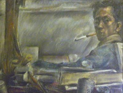 Autoportrait à la cigarette - Toshio Bando