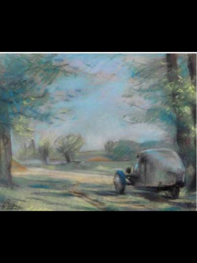 automobile et chemin de campagne