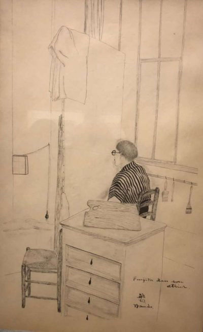 foujita dans son atelier-toshio bando